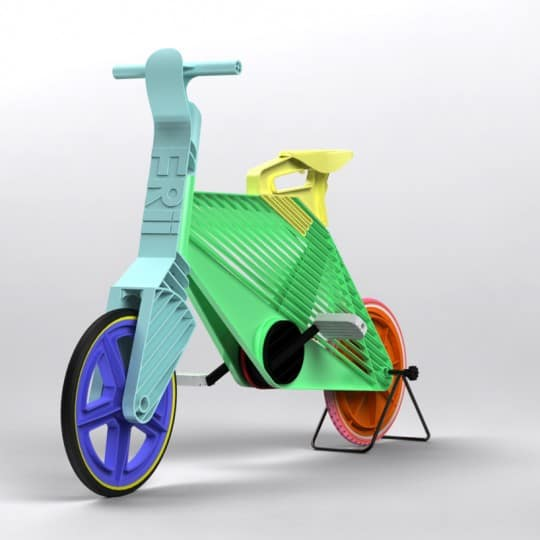 Bicylce made out recycled plastics Frii bike