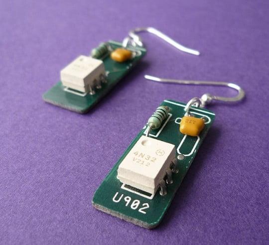 Vintage-White-Circuit-Earings
