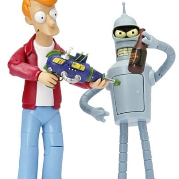 Awesome Futurama Action Figures Fry and Bender