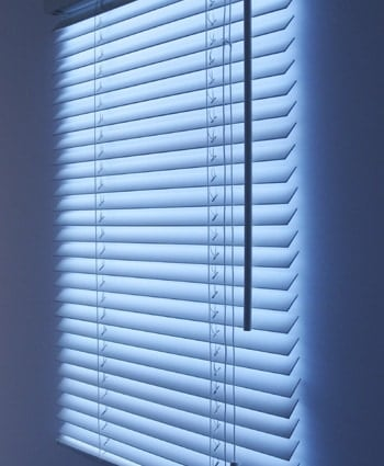 Blinds with built in light
