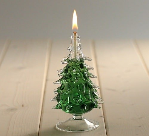 cute christmas tree oil lamp