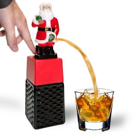 Peeing Santa Claus drink dispenser