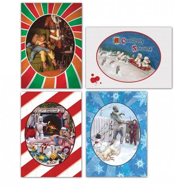 zombie holidays greetings cards