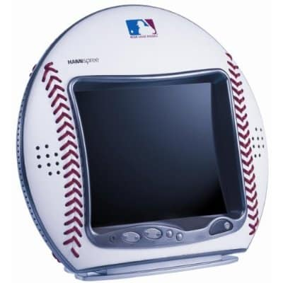 Baseball shaped LCD TV