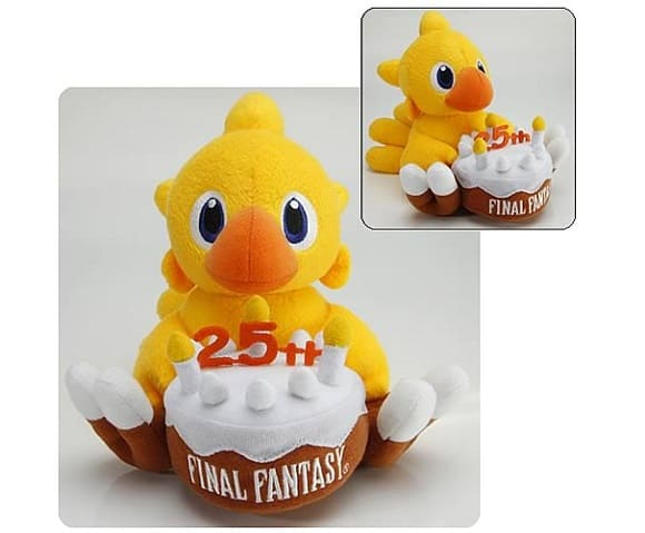 Final Fantasy 25th anniversary chocobo plush figurine