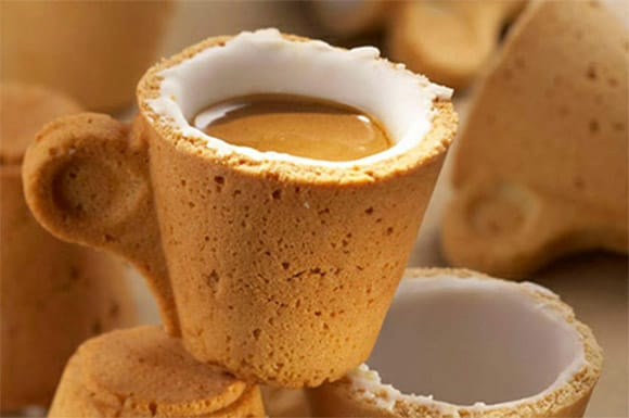 cookie cup - edible coffee tea cup