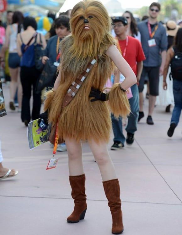 sexy female chewbacca cosplay