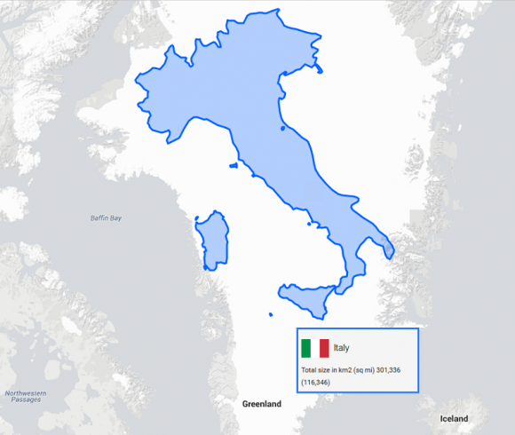 World Map True Country Size. true map greenland vs italy Maps Lie  The True Size Doesn t How Big Is Your Country