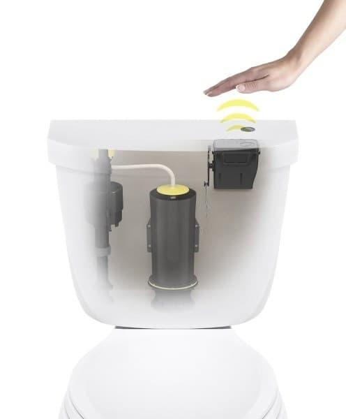 Toilet Flush Cover : Touchless toilet flush kit by kohler geekextreme