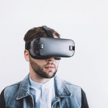 person using vr