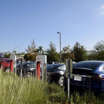 tesla cars supercharger