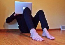 person surfing internet