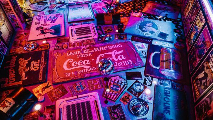 red cocacola signage graphic design