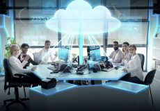 group of people cloud computing