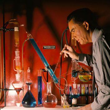 science geek working