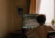 geek boy coding