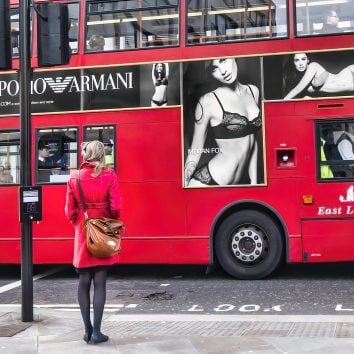 red bus in london during london retreat