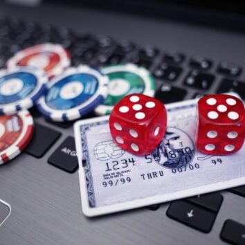 credit card and dice