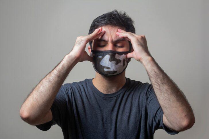 headache man mask